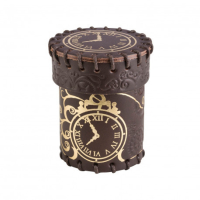 Steampunk Brown & golden Leather Dice Cup