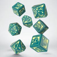 Polaris RPG Turquoise & light yellow dice, 3D6 +3D10...